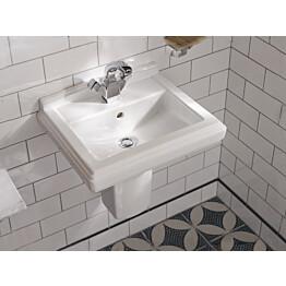 Käsienpesuallas Ceramicplus-pinnoitteella Villeroy & Boch Hommage 7301 500x410 mm Valkoinen Alpin