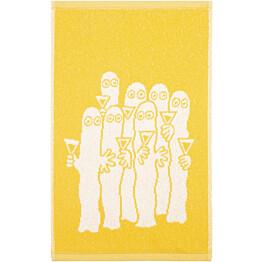 Käsipyyhe Finlayson Hattivatit 30x50 cm keltainen
