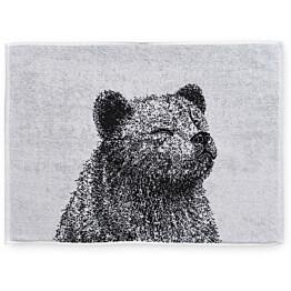 Käsipyyhe Finlayson Karhu 50x70 cm musta/valkoinen