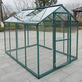 Kasvihuone AB Polar 4,3 m² turvalasit vihreä alumiinirunko