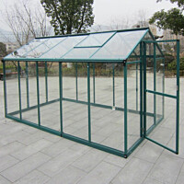 Kasvihuone AB Polar 5,7m² turvalasit vihreä alumiinirunko