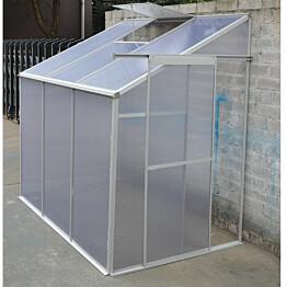 Kasvihuone Metalcraft, 2,7m², kennolevyä, seinää vasten