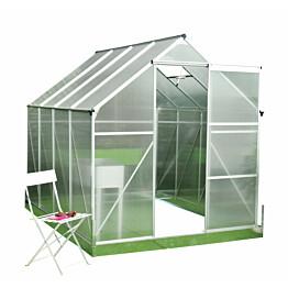 Kasvihuone Viheraarni Luxus 4,8 m² 4 mm kennolevyllä alumiinirunko