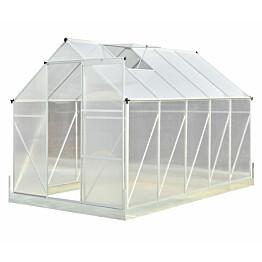 Kasvihuone Viheraarni Luxus 6 m² 4 mm kennolevyllä alumiinirunko