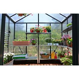 Kasvihuoneen jatko-osa Palram Glory 2,48 m² 8x4 harmaa