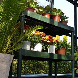 Kasvihuonepöytä Palram Rion 2 hyllyä vihreä
