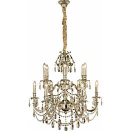 Kattokruunu Aneta Versailles 12-osainen K9-kristalli antiikkihopea