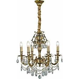 Kattokruunu Aneta Versailles 6-osainen K9-kristalli kulta