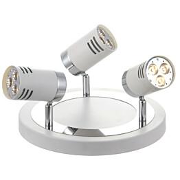 LED-kattospotti Pipe Ø 250x160 mm 3-osainen valkoinen/kromi
