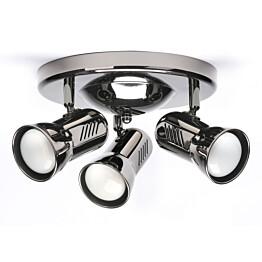 Kattospotti Heat Alfa-Easy 360x180 mm 3-osainen mustakromi