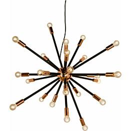 Kattovalaisin Scan Lamps Ray 24-osainen 90 cm musta/kupari