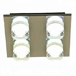LED-plafondi Vetro IP44 230x230x80 mm 4-osainen kromi/akryyli