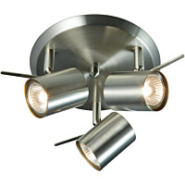 Kattovalaisin Hyssna LED Ø 250x145 mm harjattu teräs IP21