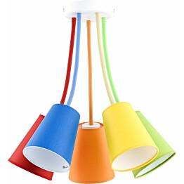 Kattovalaisin TK Lighting Wire Color 2107 5-osainen monivärinen