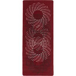 Käytävämatto Hestia Pyörre 80x250cm punainen