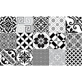 Käytävämatto Beija Flor Eclectic 68x180 cm musta/valko/harmaa