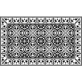 Käytävämatto Beija Flor Portugal 68x180 cm musta/valkoinen
