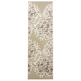 Käytävämatto Sydänpuu 68x220 cm harmaa/valkoinen