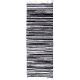 Käytävämatto VM Carpet Ritirati eri kokoja musta-valkoinen