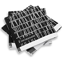 Keittiöpyyhe Coronna 50x70 cm musta/valkoinen 2 kpl/pak