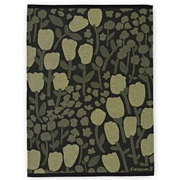Keittiöpyyhe Finlayson Huiske 50x70 cm musta/keltainen 2kpl