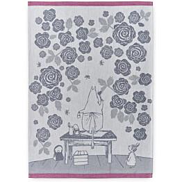 Keittiöpyyhesetti Finlayson Muumimamman ruusutarha 50x70 cm sininen/roosa