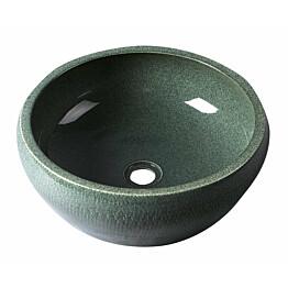 Keraaminen pesuallas Interia Priori, pöytätasolle, kohokuvioitu, vihreä, 420 X 420 X 150 mm