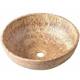 Keraaminen pesuallas Interia Priori, pöytätasolle, koristemaalattu, ruskea, 420 X 420 X 150 mm