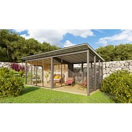 Kesäolohuone Seiskari liukulasit + terassi (17 m²)