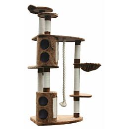 Kissan kiipeilypuu VIPstore Suklaapuoti 185x116x76 cm