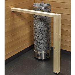 Kiukaan suojakaide/jalkatuki Sun Sauna Log I-malli kuusi
