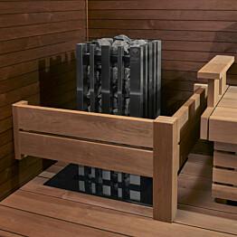 Kiukaan suojakaide Sun Sauna Relax L-malli alalauteelle
