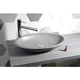 Kiviallas Interia Blok, pöytätasolle, matta harmaa, 600 X 350 X 110 mm