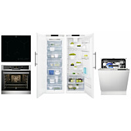 Kodinkonepaketti 2 Electrolux EOP600X + HOB750MF + ERF4114AOW + EUF2748AOW + ESL8522RO