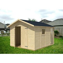 Kombi-varasto 3010x3640 mm 10,9 m² puuvalmis