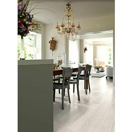 Komposiittilattia Egger Design GreenTec Tammi Elva Valkoinen 1,995 m²/pkt