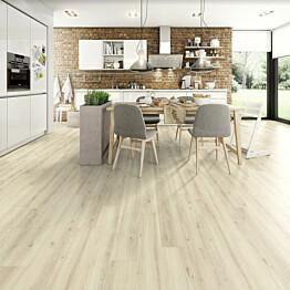 Komposiittilattia Egger Design GreenTec Tammi Gentle Valkoinen 1,995 m²/pkt