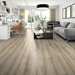 Komposiittilattia Egger Design GreenTec Tammi Karkea Harmaa 1,995 m²/pkt