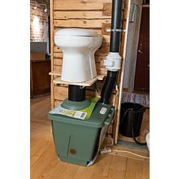 Kompostikäymälä Pikkuvihreä Green Toilet Lux posliini-istuimella