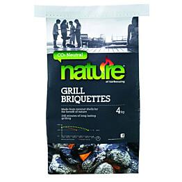Kookos-grillibriketit Nature 4 kg