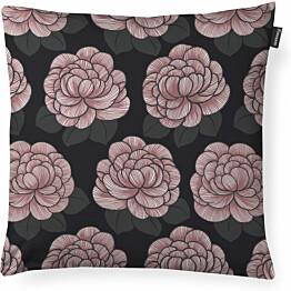 Koristetyynynpäällinen Finlayson Sylvi 48x48 cm musta/roosa