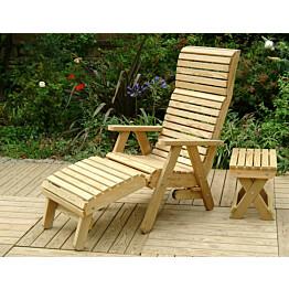 Korkeaselkäinen Elli-tuoli N118 on varustettu jatkojaloilla