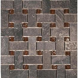 Lasimosaiikki Majakivi Korpikulta tumman harmaa 30x30 cm