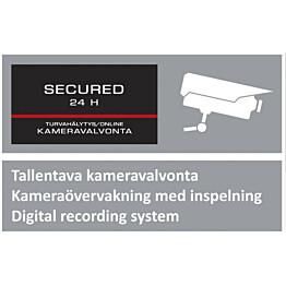 Kotikamera Kotihälytin.fi varoituskyltti 1 kpl iso