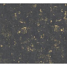 Kuitutapetti Vallila Make Up 230782, 0.53x10.05m, musta/kultainen