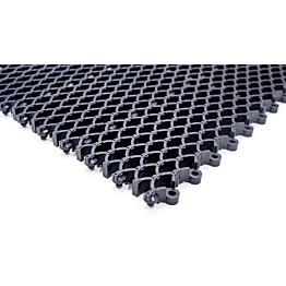 Kumiritilämatto Cleanway koottava 18 palaa/pak 0,36 m² 20 mm harmaa