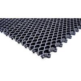 Kumiritilämatto Cleanway koottava 24 palaa/pak 0,48 m² 16 mm harmaa