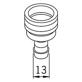 Kuulapikaliitin Oras 224332 Ø 13 mm kromi
