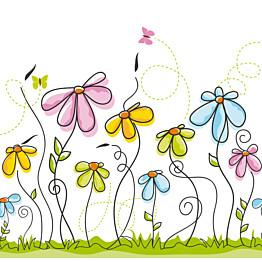 Kuvatapetti Kisailevat perhoset niityllä 485001 279x270 cm 6 paneelia