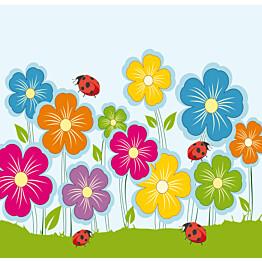 Kuvatapetti Leppäkerttujen kukkamatka 485010 279x270 cm 6 paneelia